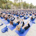 Free Yoga Barcelona 2016: maquinaria en plena forma y entusiasmo olímpico