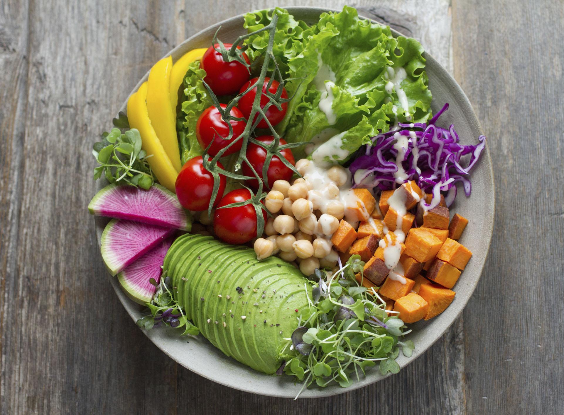 plato verduras frutas