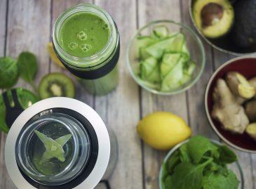 batido verde verduras y frutas